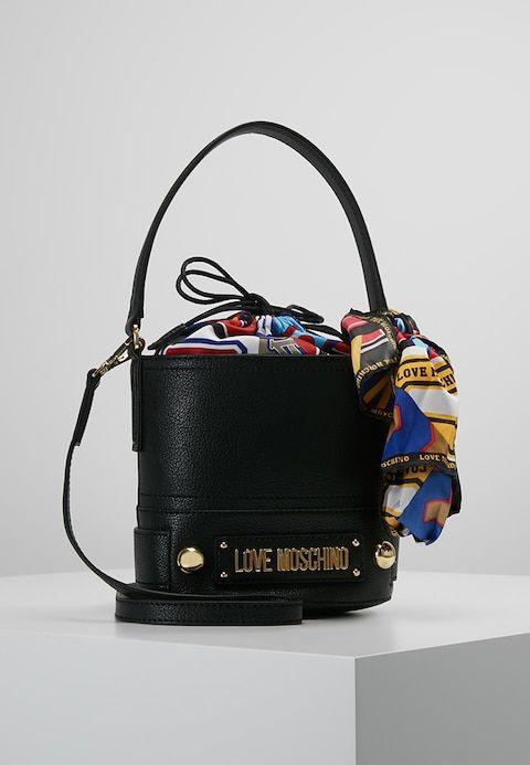 buy popular 9df6b 71847 BOW BUCKET BAG - Across body bag - nero @ Zalando.co.uk ...