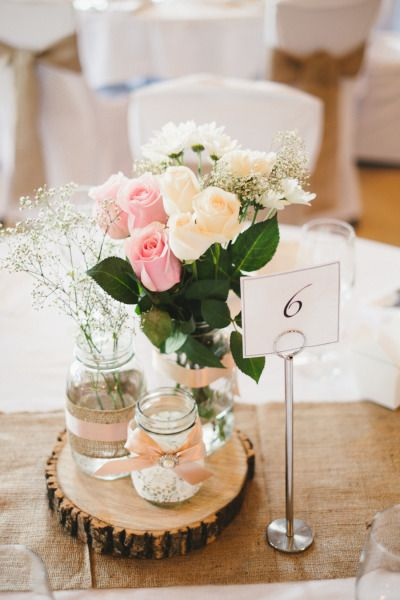 DIY rustic centre pieces Style Me Pretty   GALLERY & INSPIRATION