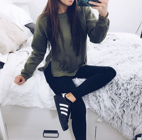 Fall winter outfits adidas and outfit styles on pinterest Fashion style girl adidas