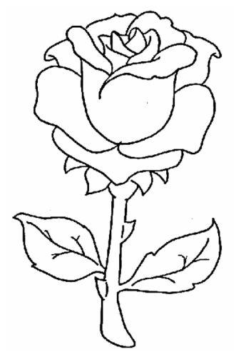 صور ورد للتلوين جهازة للطباعة لتنمية قدرات الأطفال بفبوف Painting Patterns Glass Painting Patterns Roses Drawing