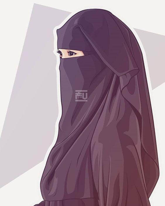 50 Gambar Kartun Muslimah Keren Cantik Dan Sedih Dyp Im