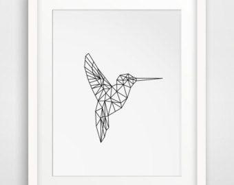 Dessins origami ----> Oiseau