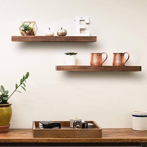 Amazon Com Everlove Floating Wood Shelves Rustic Floating