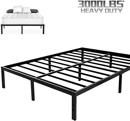 Noah Megatron Heavy Duty King Platform Bed Frame Slatted Bed Base 14 Inch Mattress Foundation Bed Frame 12 Inch In 2020 Platform Bed Frame Under Bed Storage Bed Slats