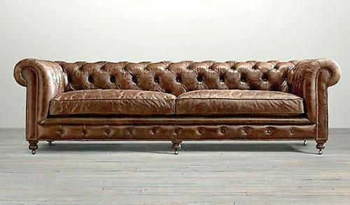 brown leather tufted sofa   All Sofas for Home in 2019 ...