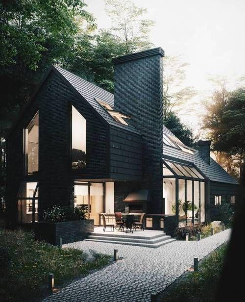 Kleines Haus mit großen Ideen House elevation, Compact and - geometrische formen farben modernes haus