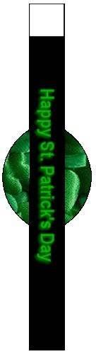 Shamrocks Design St. Patrick's Day Napkin Ring - Free, Printable St. Patrick's Day Crafts