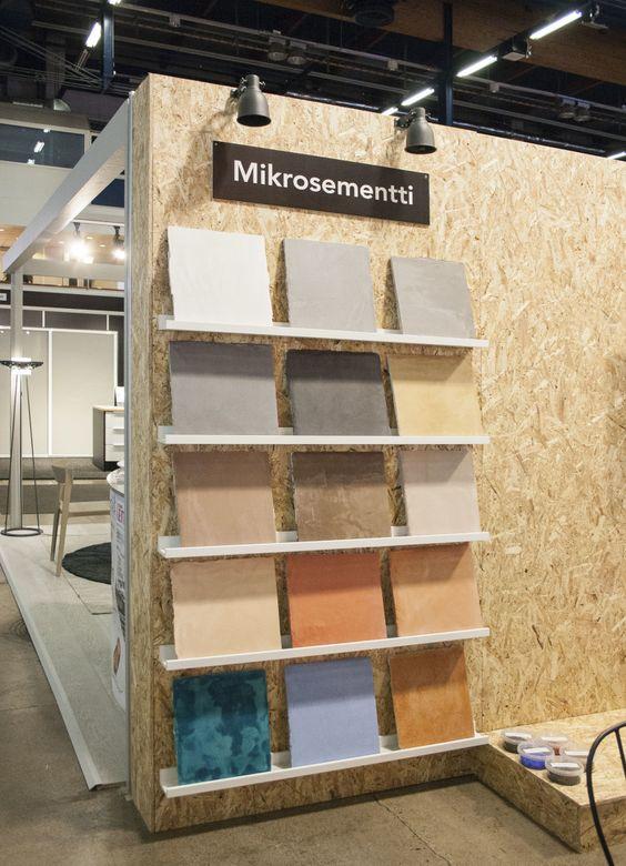 Mikrosementillä helposti betonia muistuttavia pintoja, Habitare 2015 - Etuovi.com Sisustus