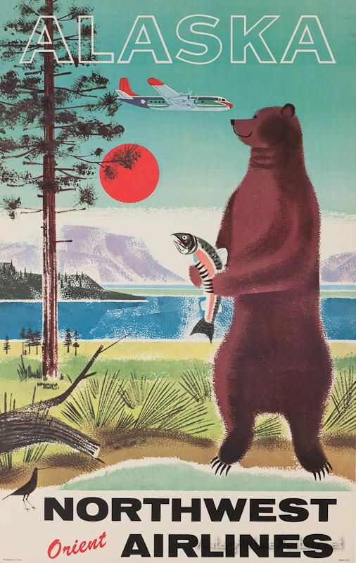 Alaska Travel Design And Poster On Pinterest