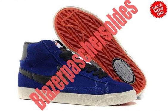 4609567 Royal Noir Homme Chaussure Nike Blazer High Vintage Suede 2014 JFJZ