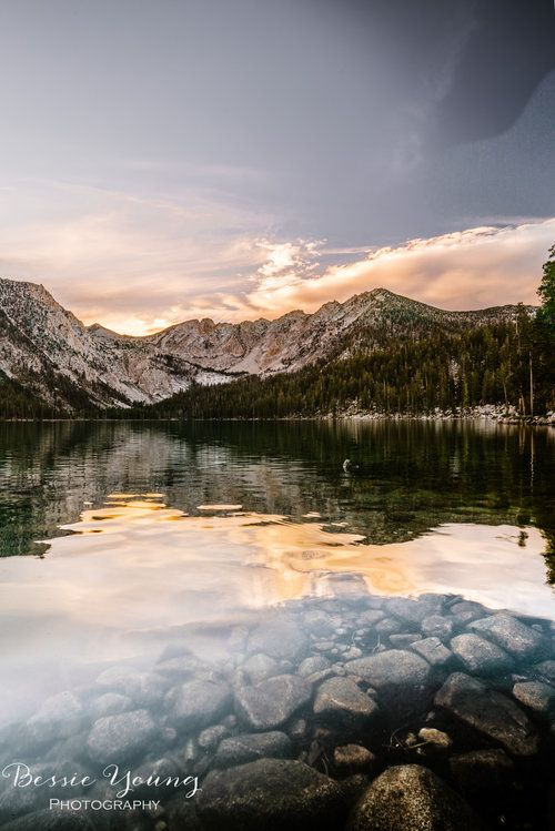Rocks In The Water At Sunset Lake Photography Landscape Photography Tips Landscape Photography