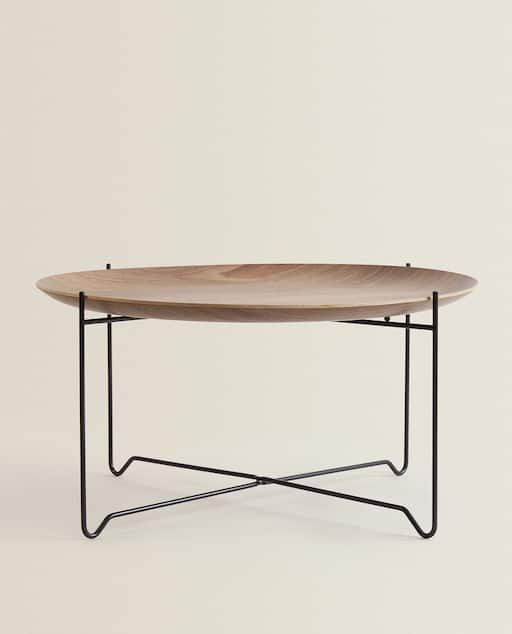 Image 1 Of The Product Wooden Table En 2020 Table Basse Zara Home Table Bois Zara Home