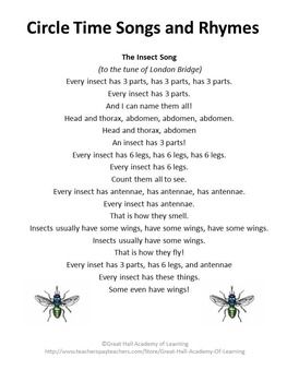 songs about insects for preschoolers the world s catalog of ideas 991