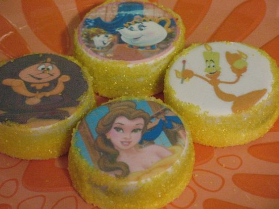 EDIBLE IMAGE COOKIES  Princess Belle / by serenaspartyboutique, $8.00  Reagan would so LOVE these!