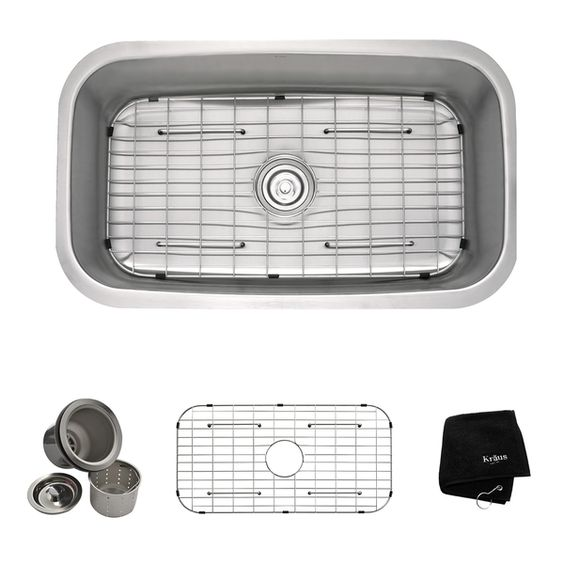 Kraus 31.5-inch Undermount Single Bowl Steel Kitchen Sink - Overstock™ Shopping - Great Deals on Kraus Kitchen Sinks