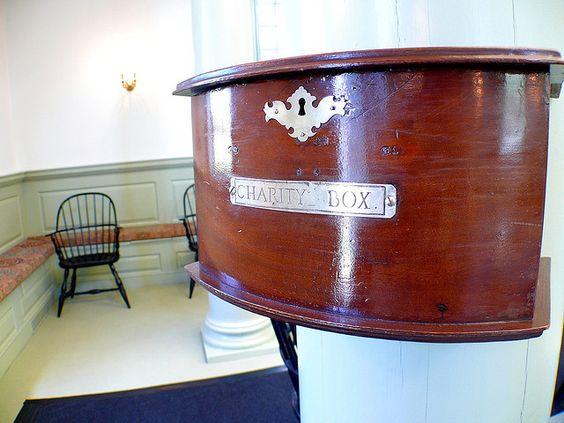 Charity box, Touro Synagogue
