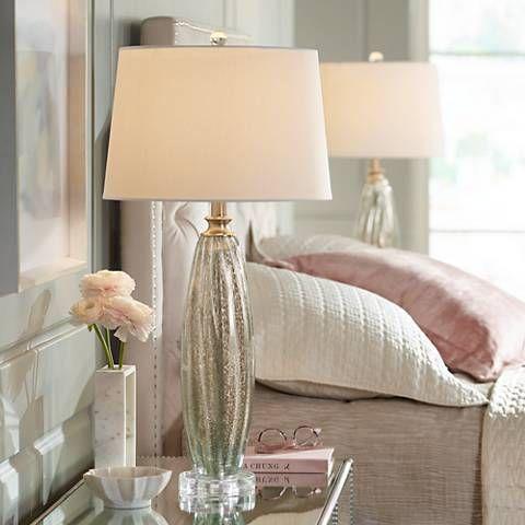 Suri Champagne Glass Table Lamp Set Of 2 37j66 Lamps Plus