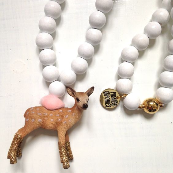 Pirates & Ponies GOLD Bambi necklace