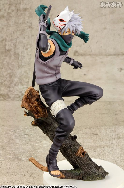 New Anime Megahouse Naruto Shippuuden Hatake Kakashi Anbu G.E.M PVC Figure