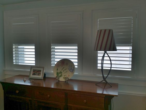 Shutters have no tilt bar, giving a cleaner look. Also, top and bottom sections operate independently. Call us for information about all of our shutter line: 419-381-2700