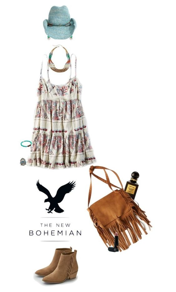 """""""The New Bohemian with American Eagle Outfitters: Contest Entry"""" by polylana on Polyvore"""