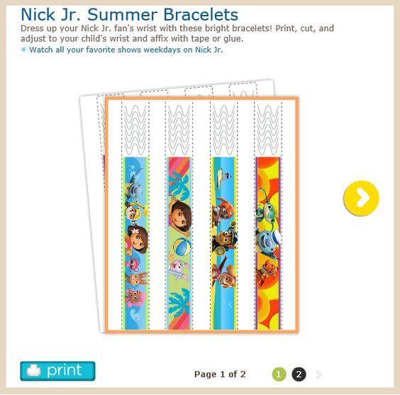 http://www.nickjr.com/printables/nick-jr-summer-bracelets.jhtml