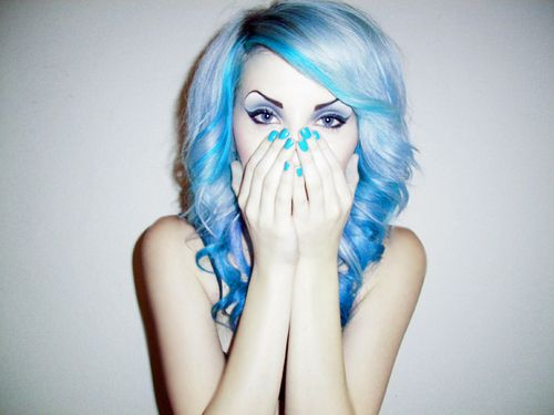 : Colored Hair, Haircolor, Blue Hair, Hairstyle, Hair Style, Hair Nails, Hair Colour, Hair Color