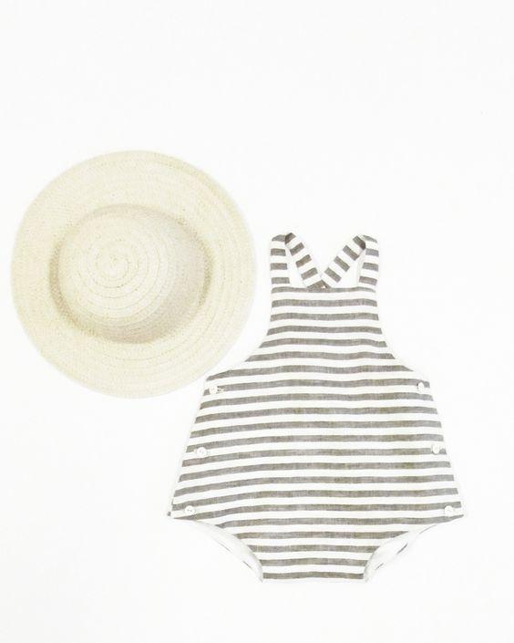 wolfechild — sunsuit- grey stripe