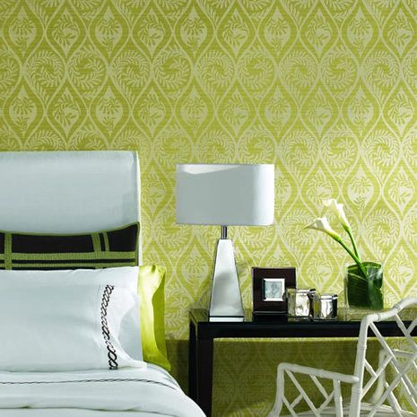 How to make easy peel-off fabric wallpaper, good for dorms, leases, or any other temporary wall decor.