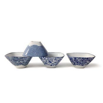Mt. Fuji Bowl Set of 4. Amazing how much their shape evokes the real thing!