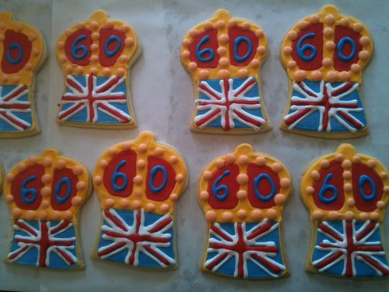My talented friend Richard Thomas made these cookies in honor of Queen Elizabeth II's Diamond Jubilee. He even designed his own cookie cutter. What a guy. (May 2012)