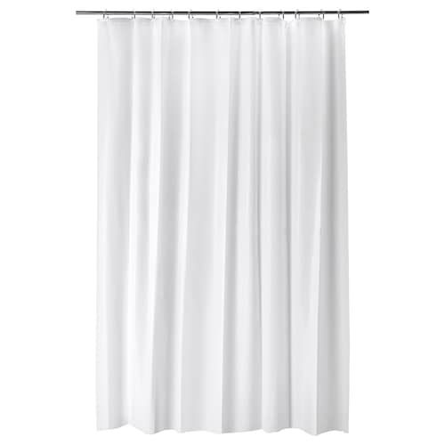 Dignitet Curtain Wire Stainless Steel 197 White Shower