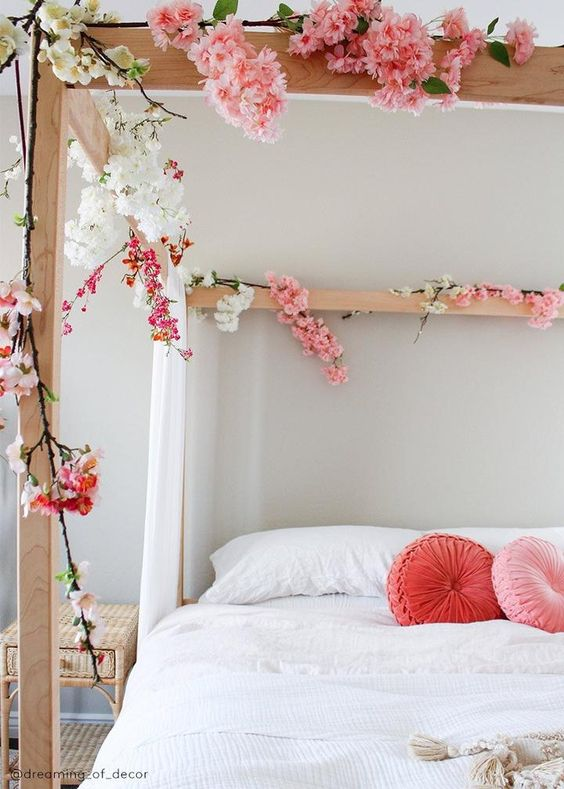 Shop Artificial Cherry Blossoms Pink Cherry Blossom Branch Afloral Cherry Blossom Decor Cherry Blossom Bedroom Flower Bedroom