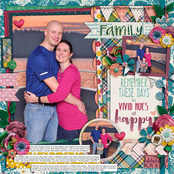 Template: Cindy Schneider - Half Pack 169 Kit: Amanda Yi, Brook Magee, and Captivated Visions - Color Your Happy