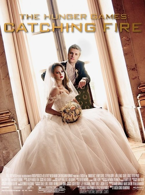 Katniss and peeta, Catching fire and Fire on Pinterest Katniss Everdeen And Peeta Mellark Wedding
