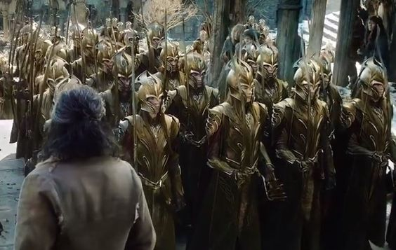 The Mirkwood elves in the armor: