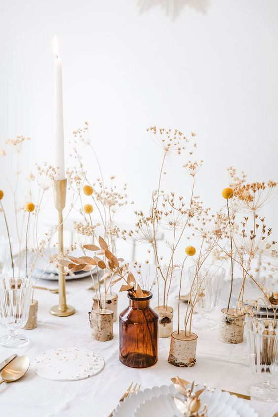 Dried Flower Table Decorations Flower Table Decorations Wedding Floral Centerpieces Wedding Centerpieces