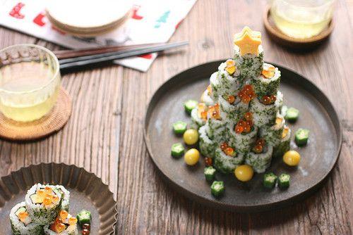 sushi Christmas tree... LOVE!