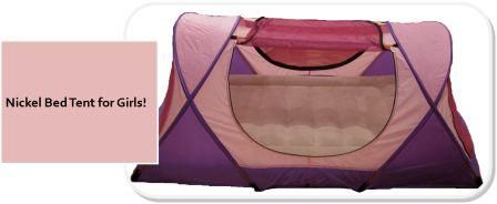 Nickel Bed Tents are designed to fit standard twin-sized mattresses. The mattress fits inside the base of the tent and helps keep children with disu2026 & Nickel Bed Tents are designed to fit standard twin-sized ...