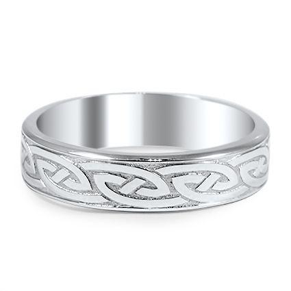 Modern Celtic Eternity Ring from Brilliant Earth
