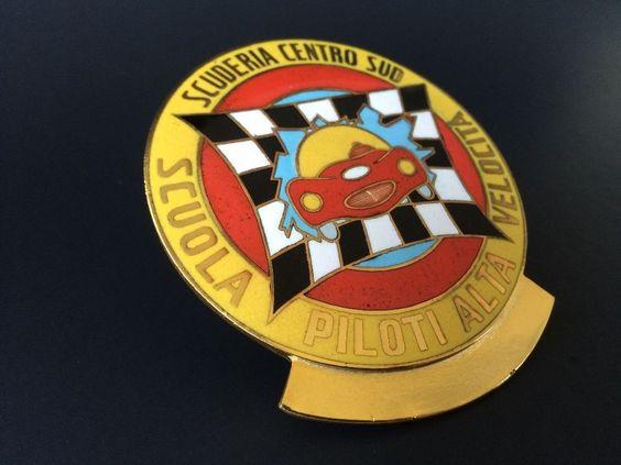 """SCUDERIA CENTRO-SUD Badge Ferrari Italy Motor Racing Guglielmo """"MIMMO"""" DEI"""