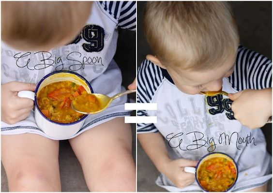 Whole Promise pic - little boy tucking into his dahl!