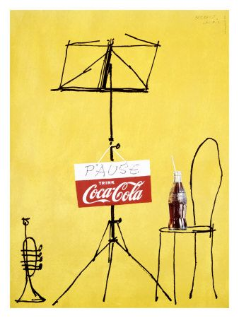 Herbert Leupin Pause with Coca-Cola.