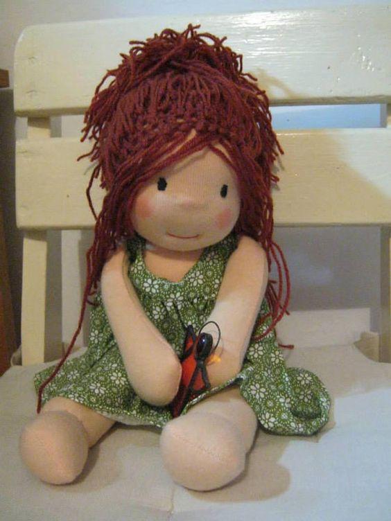 Waldorf Puppe Waldorf inspiriert SteinerPuppe BioPuppe von bemka, $175.00