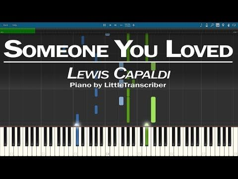 Lewis Capaldi Someone You Loved Piano Cover Synthesia Tutorial