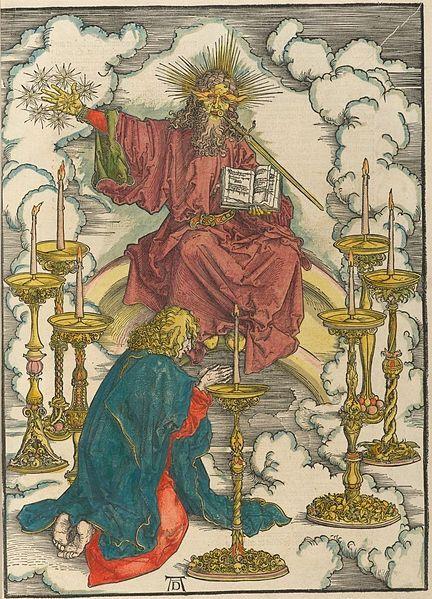 Illustration from Apocalipsis cu[m] figuris, Nuremburg: 1498, by Albrecht Dürer (1471-1528).