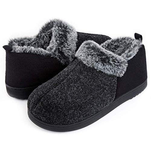 Moda Chics Womens Cozy Comfort Memory Foam Slide House Sippers Faux Fur Plush Soft Non Slip Mule Flip Flops