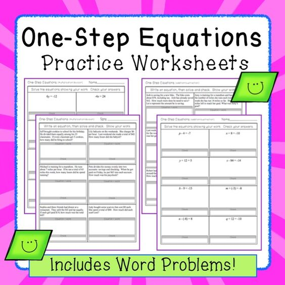 math worksheet : one step equations worksheets including word problems  word  : Solving Multiplication And Division Equations Worksheets