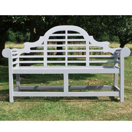 Grey Painted Teak Lutyens Wooden Garden Bench Projects