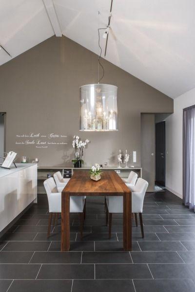 tolle esstisch kombination wei und dunkles holz ideen f rs traumhaus pinterest. Black Bedroom Furniture Sets. Home Design Ideas
